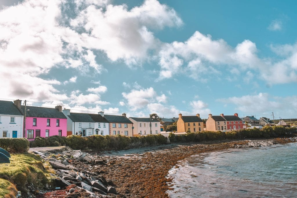Colorful buildings in Portmagee, Ireland