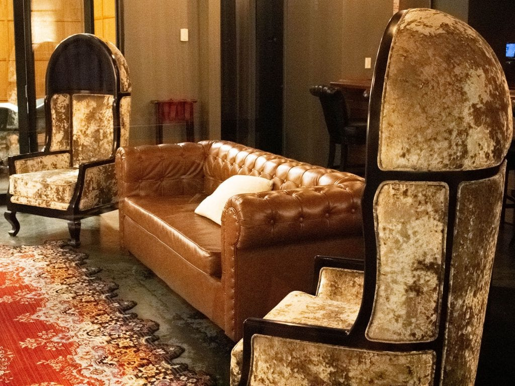 Beautiful furniture at The Time Hotel