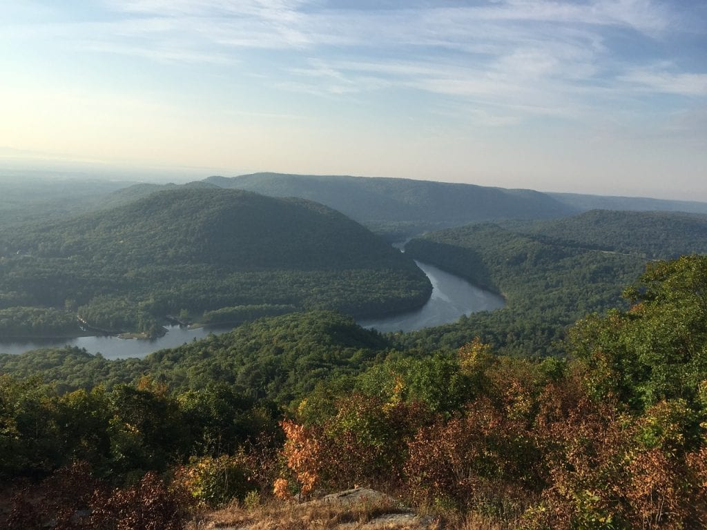 Hiking views of the Hudson Valley, New York