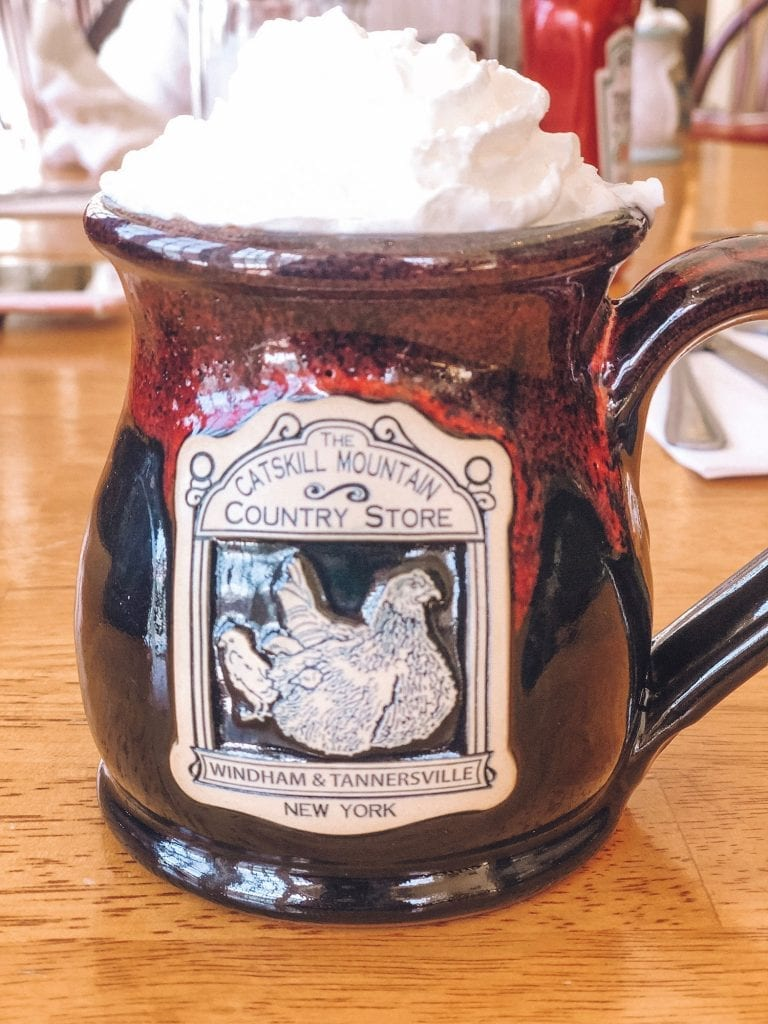 A hot chocolate from Catskill Mountain Country Store