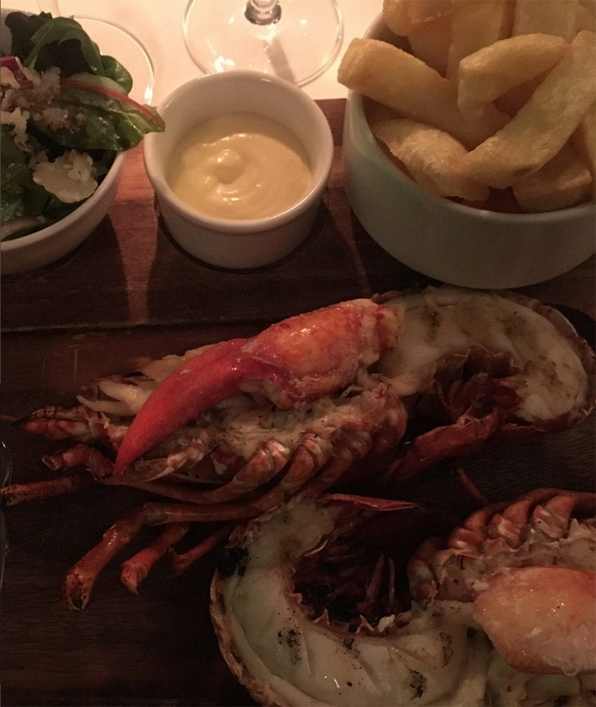 A delicious lobster dinner at the Killarney Park Hotel
