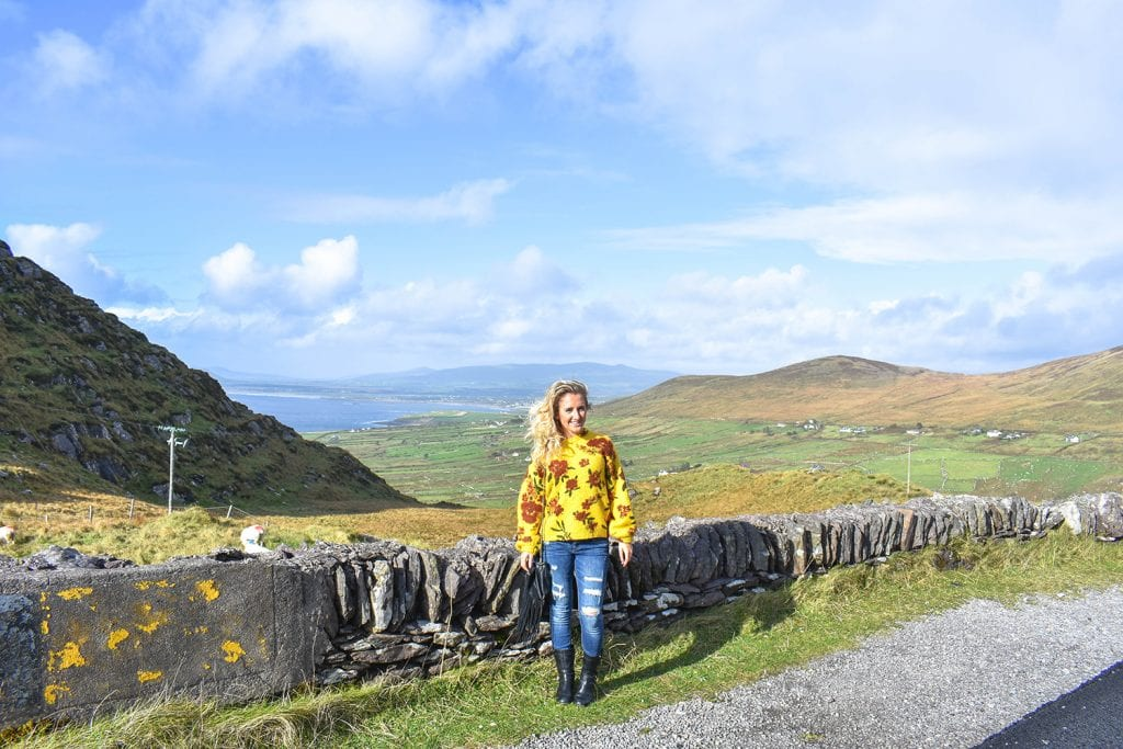 A woman exploring the beauty of the Ring of Kerry in Ireland