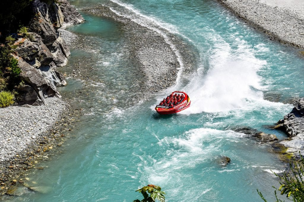 Queenstown's Shotover Jet is the perfect experience on a solo female travel journey.