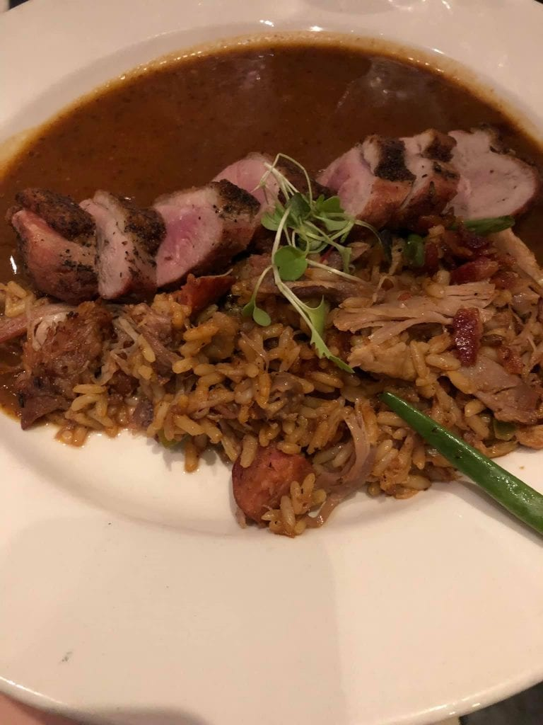 One of the best signature dishes around the world is duck jambalaya