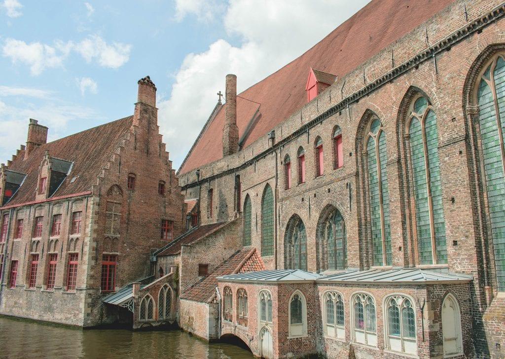 Beautiful churches in Brugge, Belgium