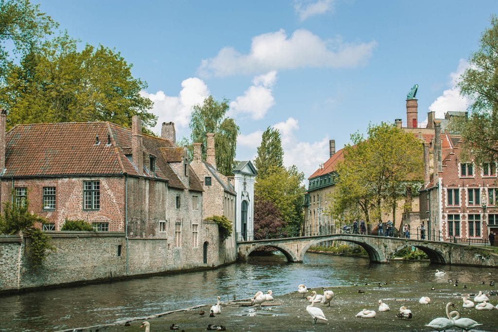 The beautiful city of Bruges during a day trip