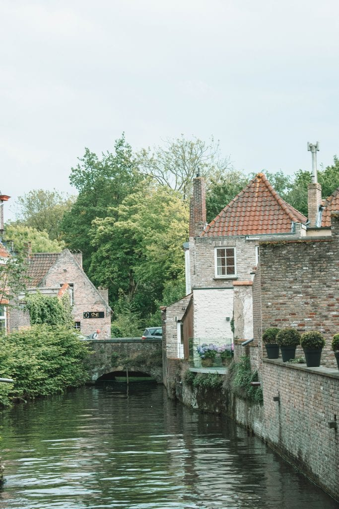 The beautiful canals of Bruges