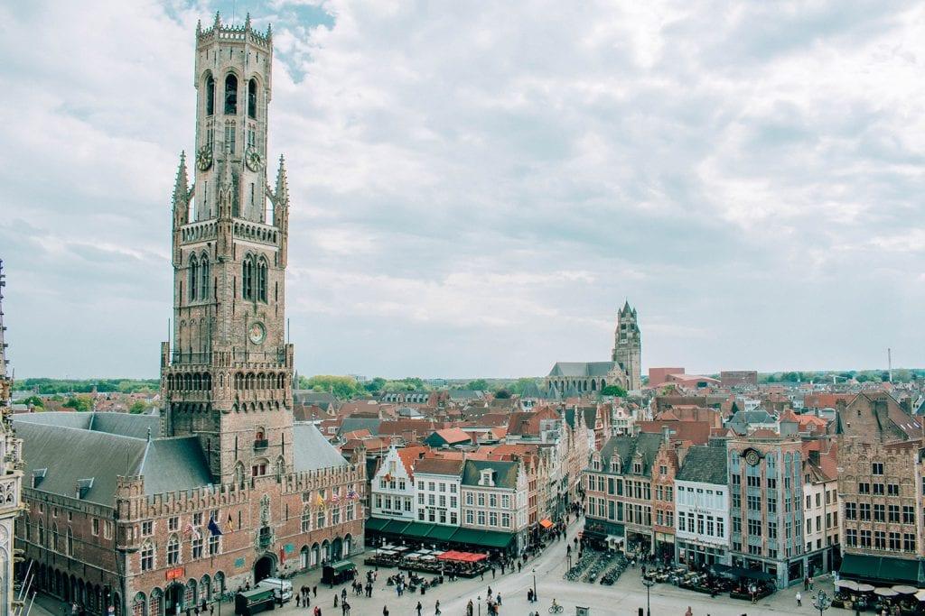 The Markt views in Bruges