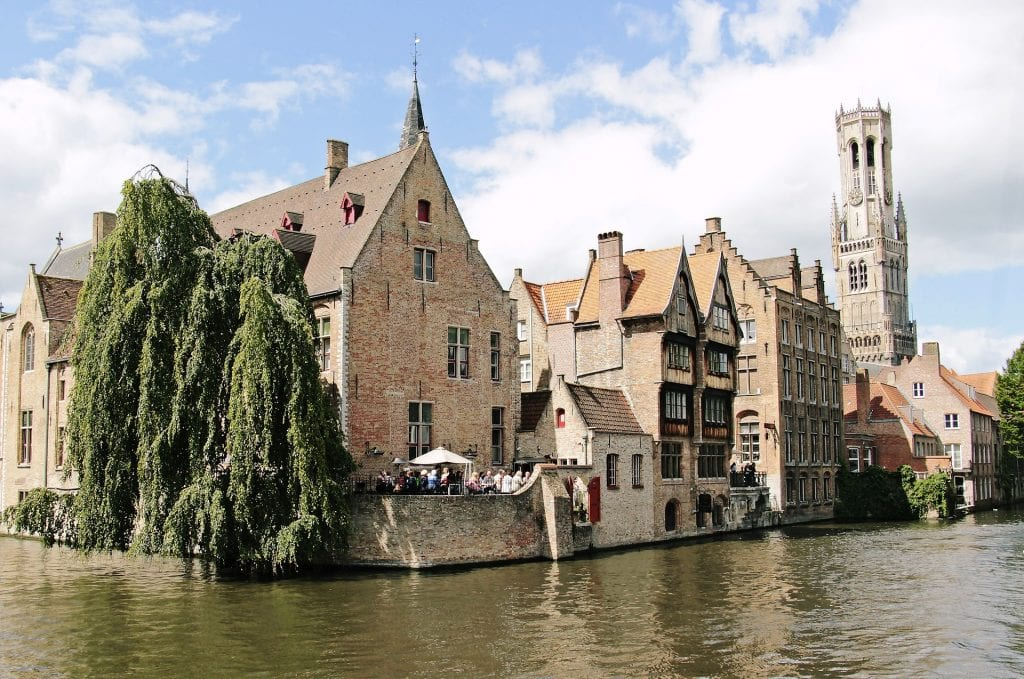 The canals of Brugge, Belgium