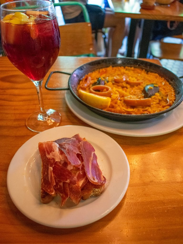 Delicious Spanish food from Sevilla, Spain