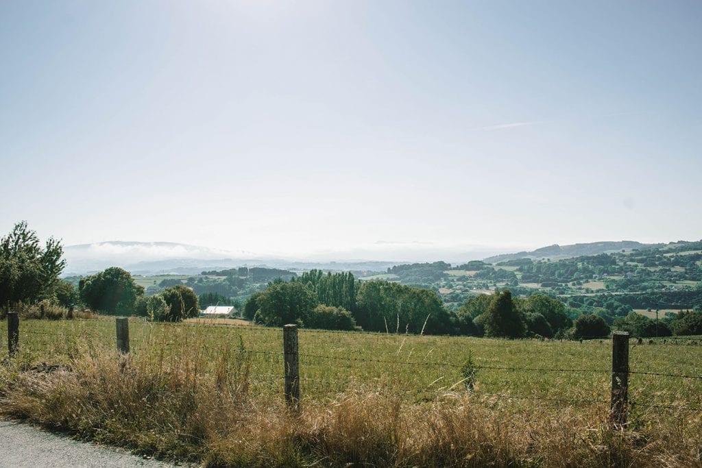 Rural views on the Camino de Santiago route
