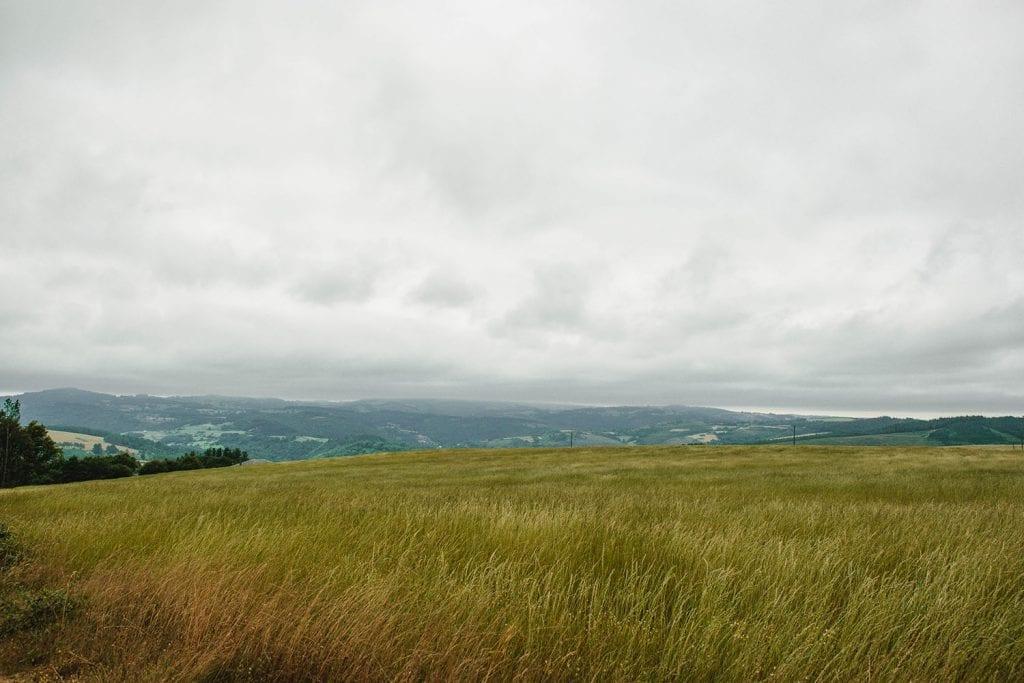 Rolling hills on the Camino de Santiago