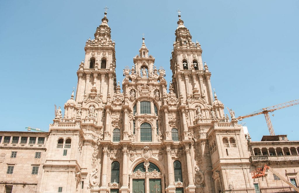 The Santiago de Compostela cathedral in Northern Spain