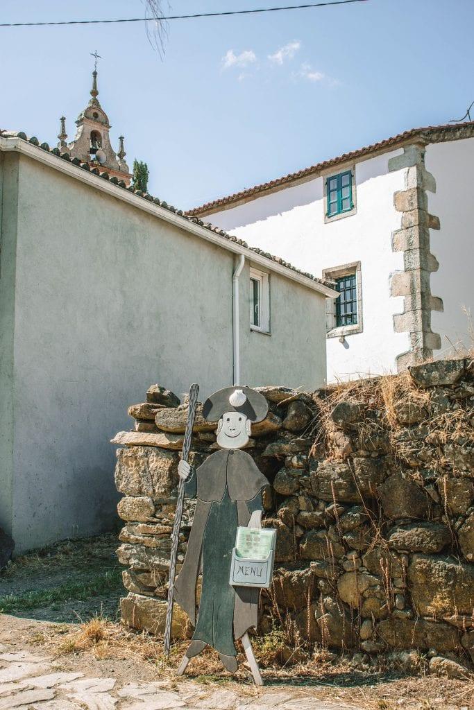 A pilgrim sign along the Camino de Santiago