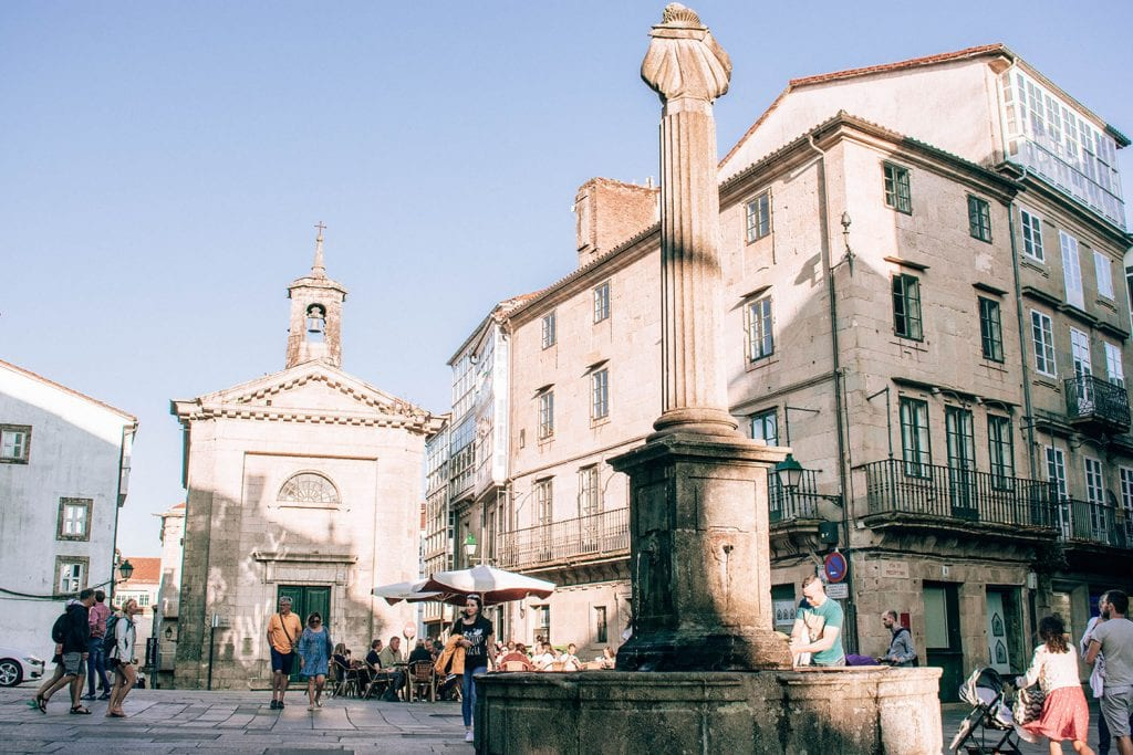 The city of Santiago de Compostela