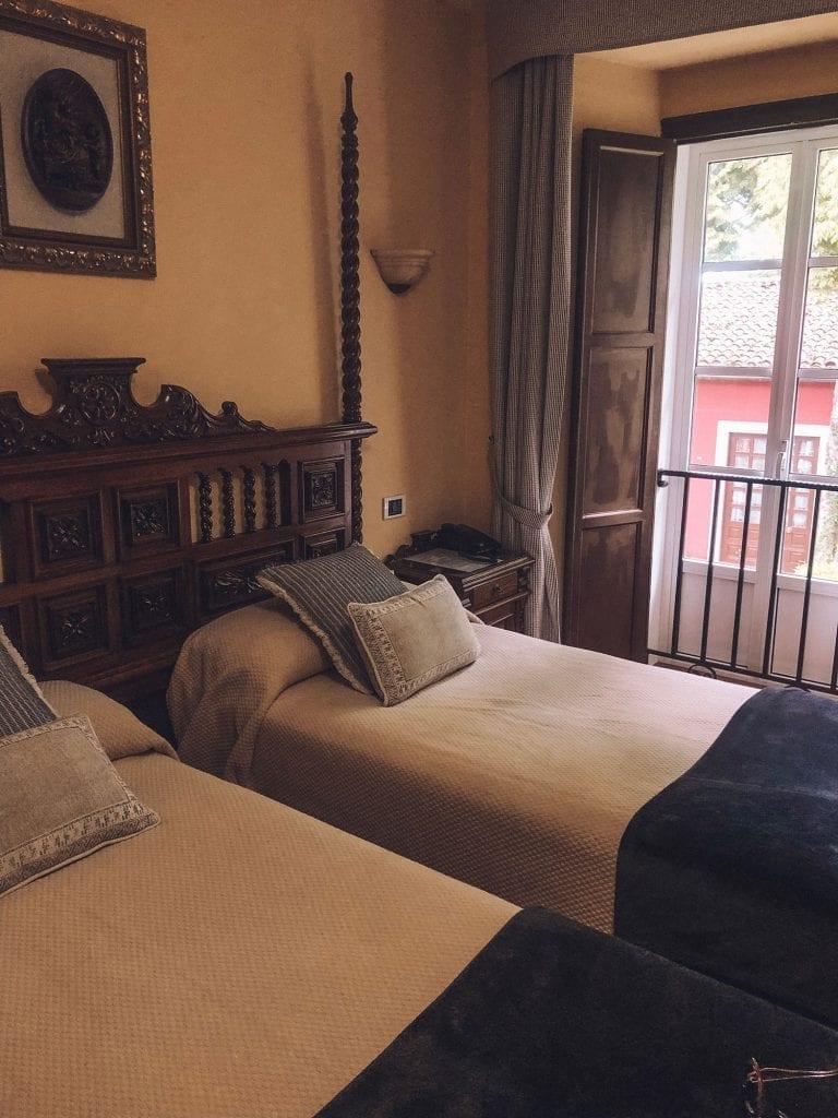 A beautiful hotel room on the Camino de Santiago