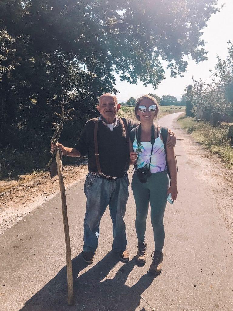 Pilgrims on the Camino de Santiago route