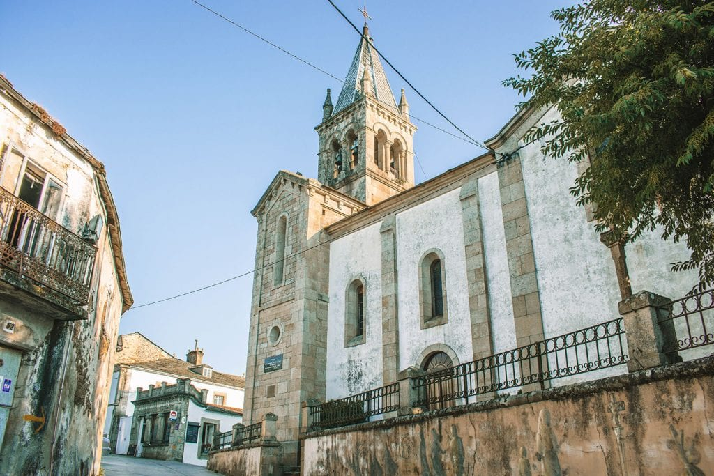 The beginning of the Camino de Santiago route