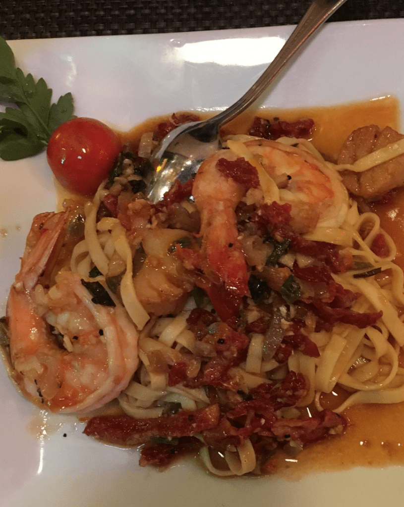 An Italian dinner from La Dolce Vita in Boston