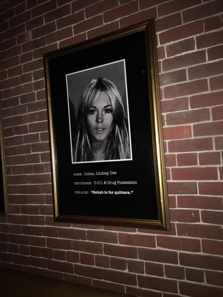 A mug shot of Lindsay Lohan at the Liberty Hotel