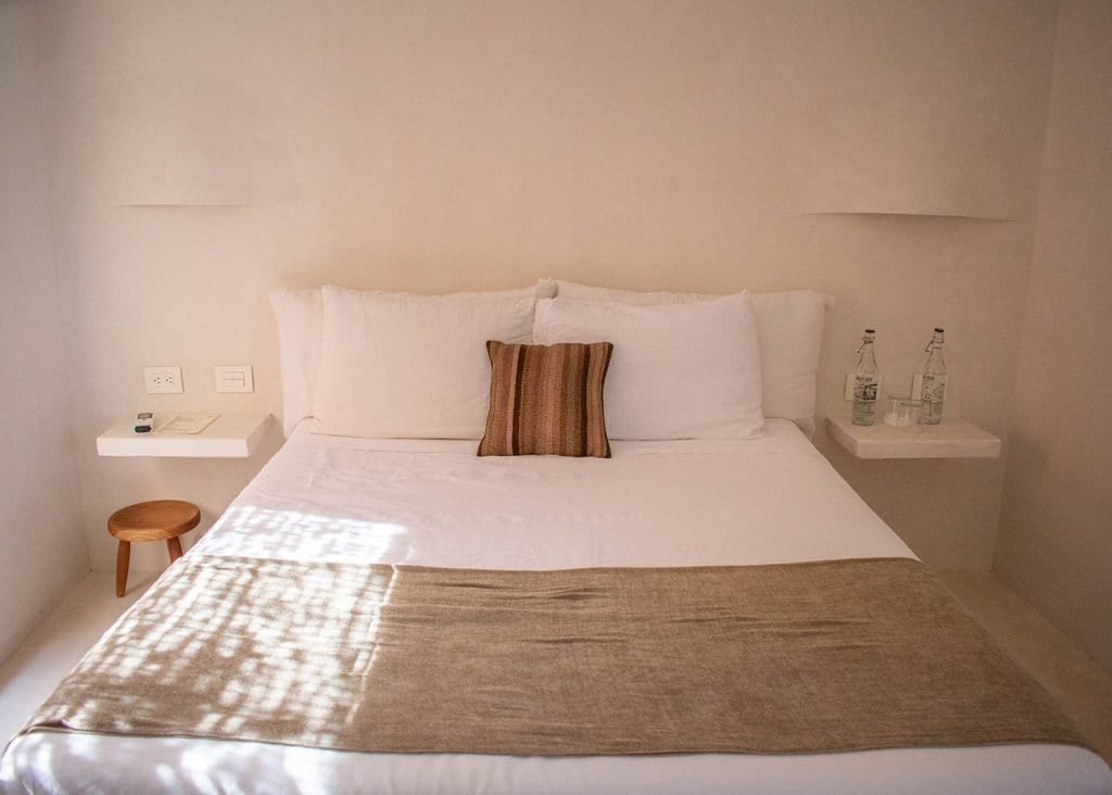 A hotel room at Casa Pueblo boutique hotel in Tulum