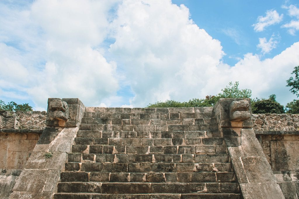 The ruins at Chichen Itza on the Yucatan