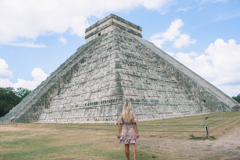 A woman on a boutique half-day tour from Tulum to Chichen Itza