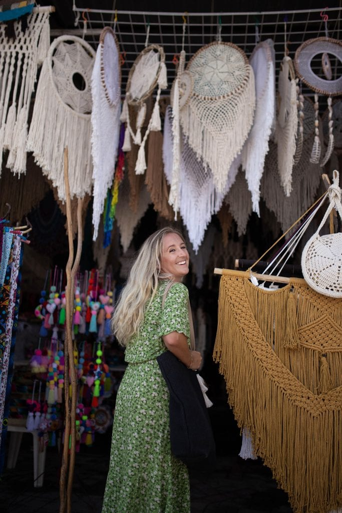 A woman boutique shopping in Tulum