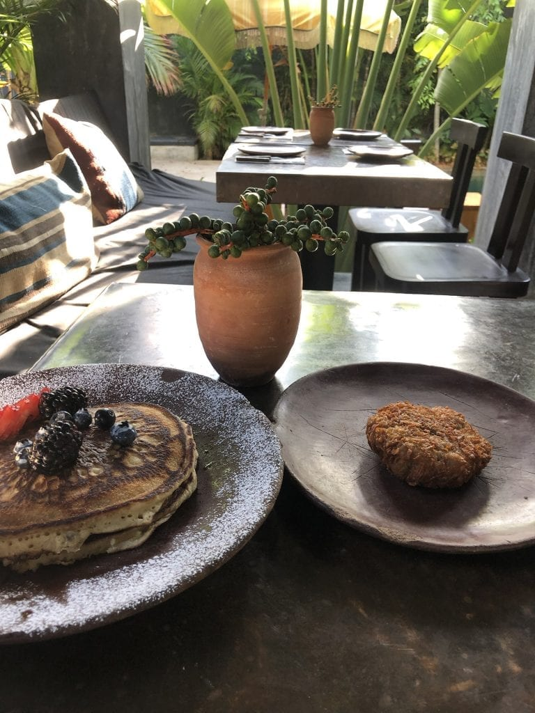 A breakfast dish from Casa Pueblo boutique hotel in Tulum