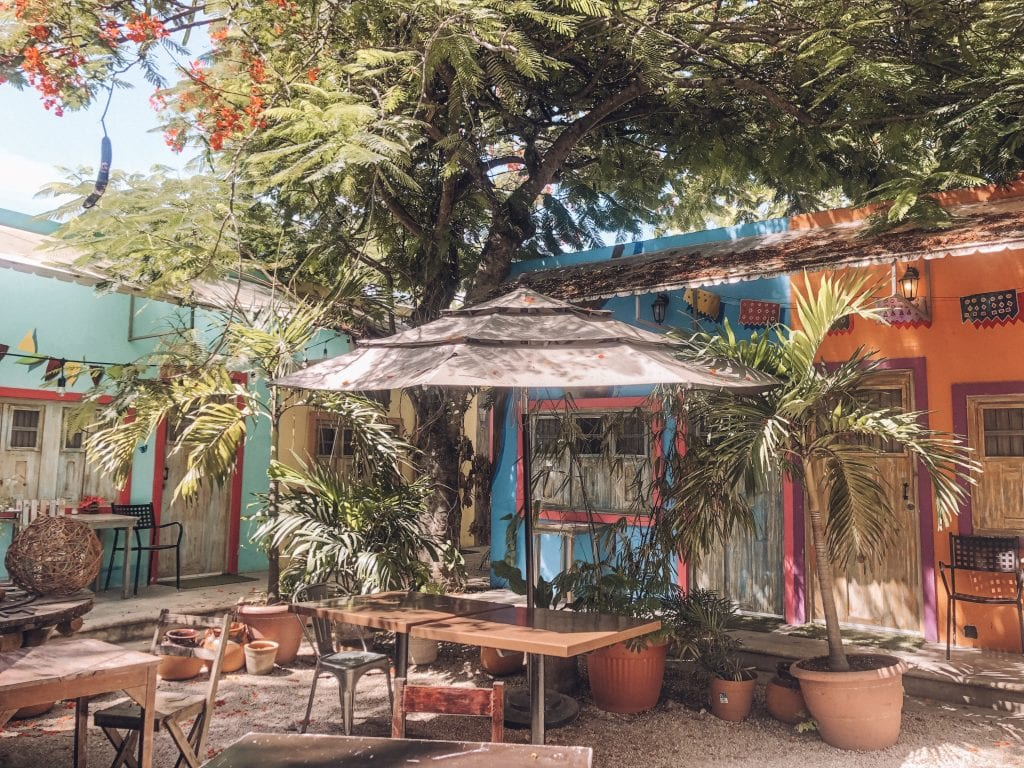 A cute restaurant in Tulum, Mexico