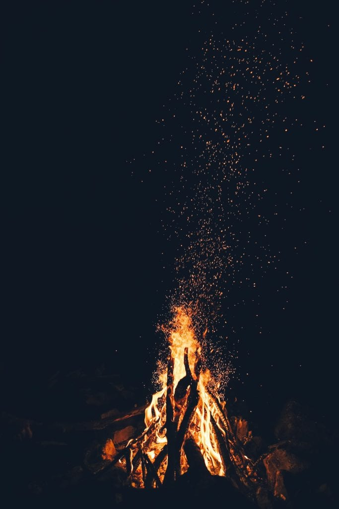 Campfire activities at Mount Snow, Vermont