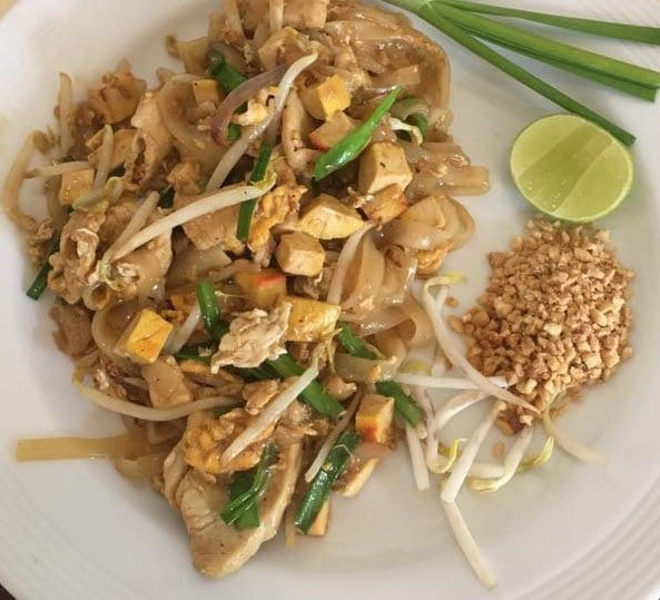 Chicken pad Thai from Bangkok, Thailand - one of the most popular signature dishes around the world