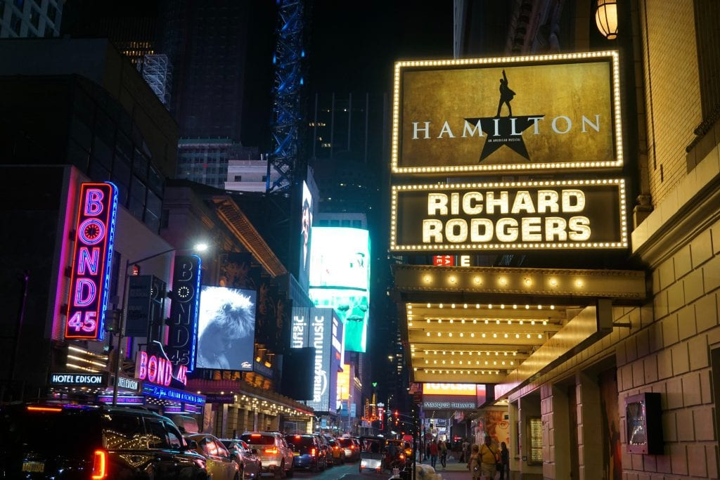 The Theater District in Manhattan, New York