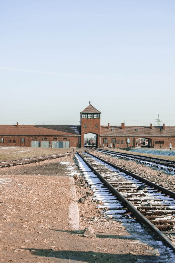 The Birkenau area of the concentration camp in Poland