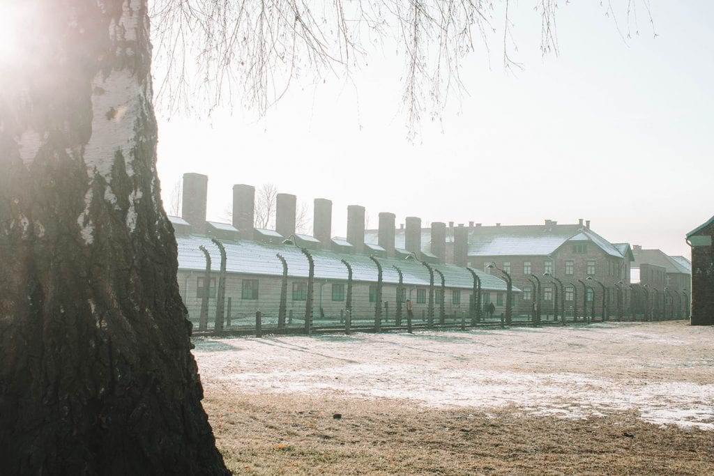 Auschwitz Birkenau during December