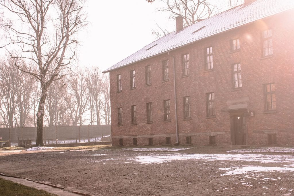The buildings of Auschwitz