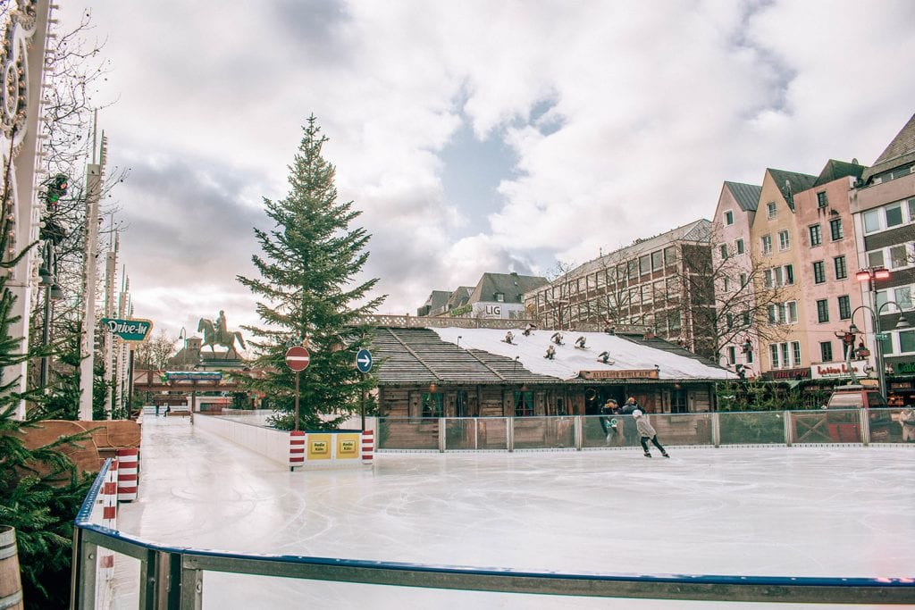 An ice skating rink in Cologne, Germany