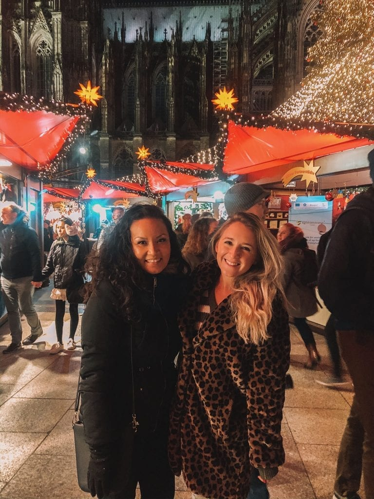 Two women experiencing the Cologne Christmas Markets