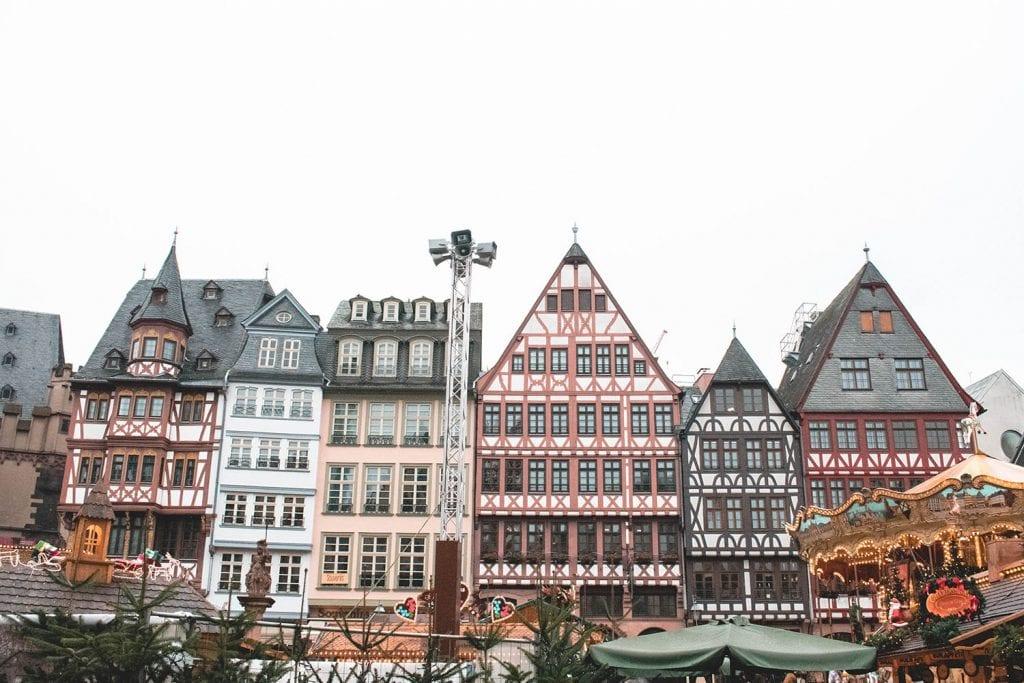 Half timbered buildings in Frankfurt