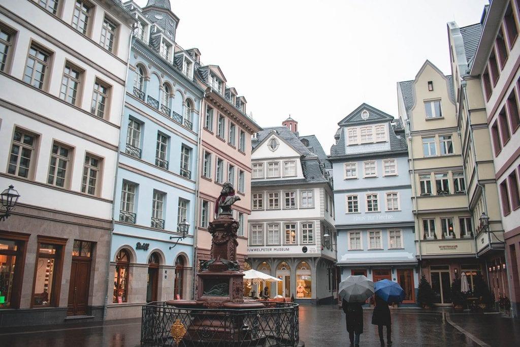 Colorful buildings in Frankfurt, Germany
