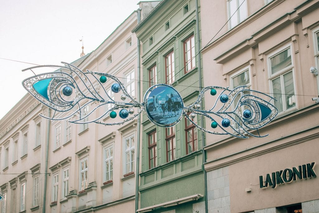 Beautiful decorations around Krakow, Poland