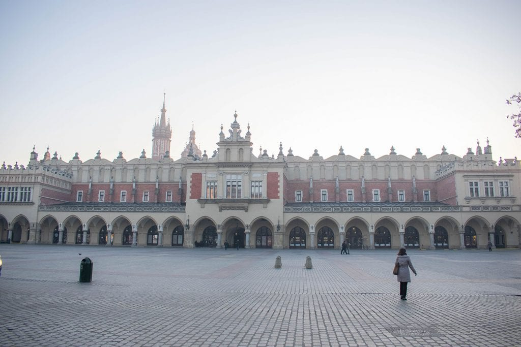 A beautiful building in Krakow, Poland
