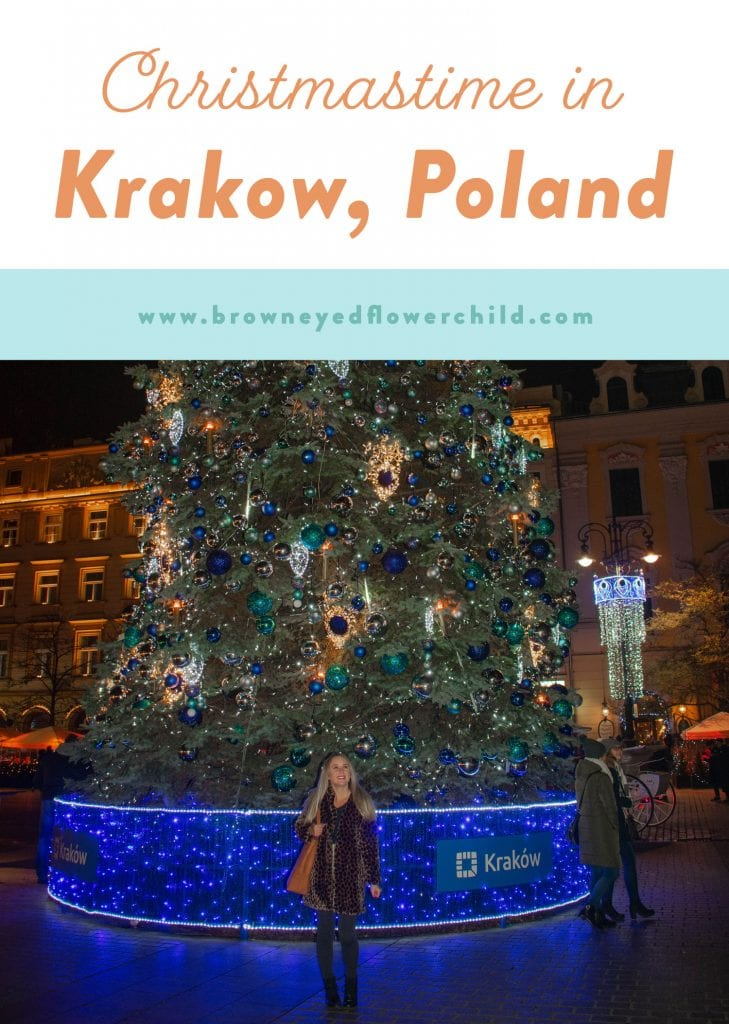 Christmastime in Krakow, Poland during December