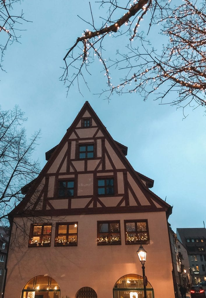 A beautiful timber house in Nuremberg, Bavaria