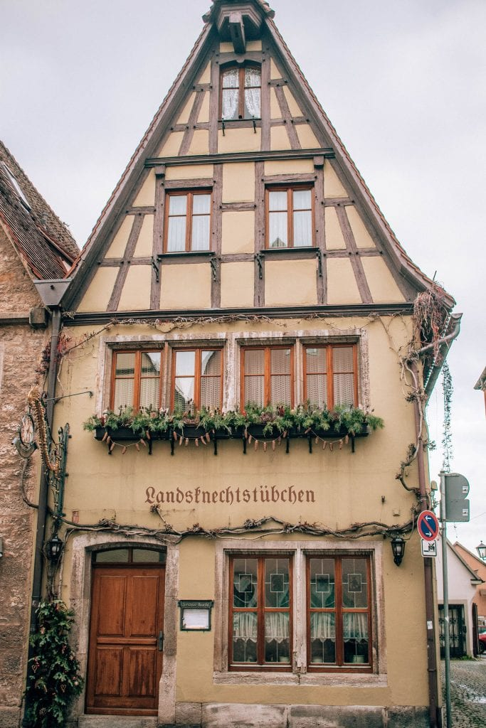 An adorable house in Rothenburg ob der Tauber in Germany