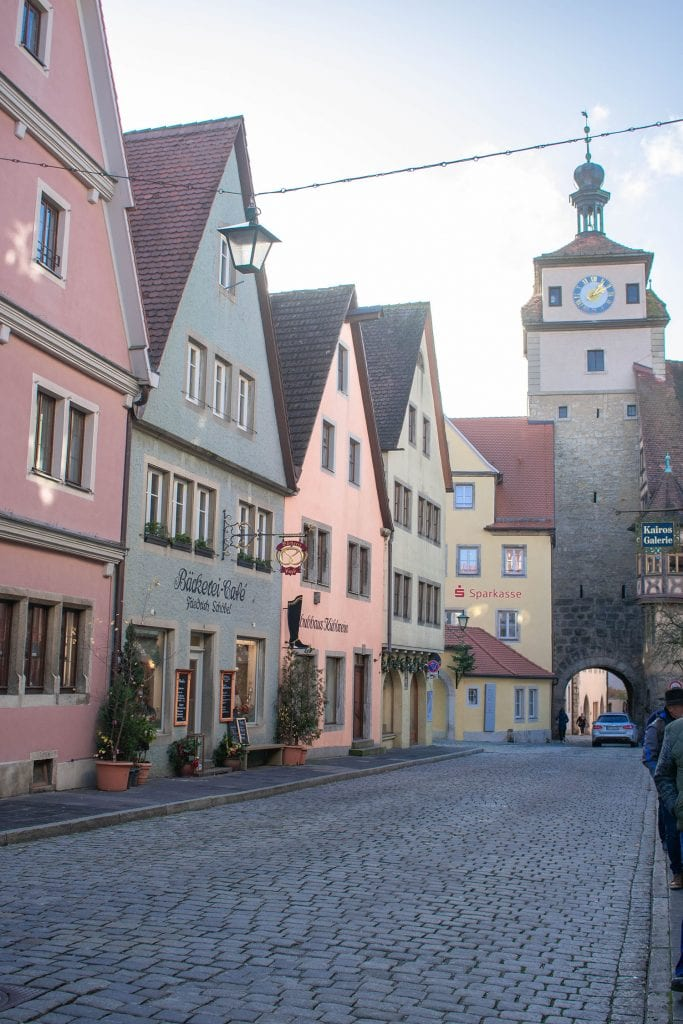 Colorful Houses in Rothenburg along the Romantic Road