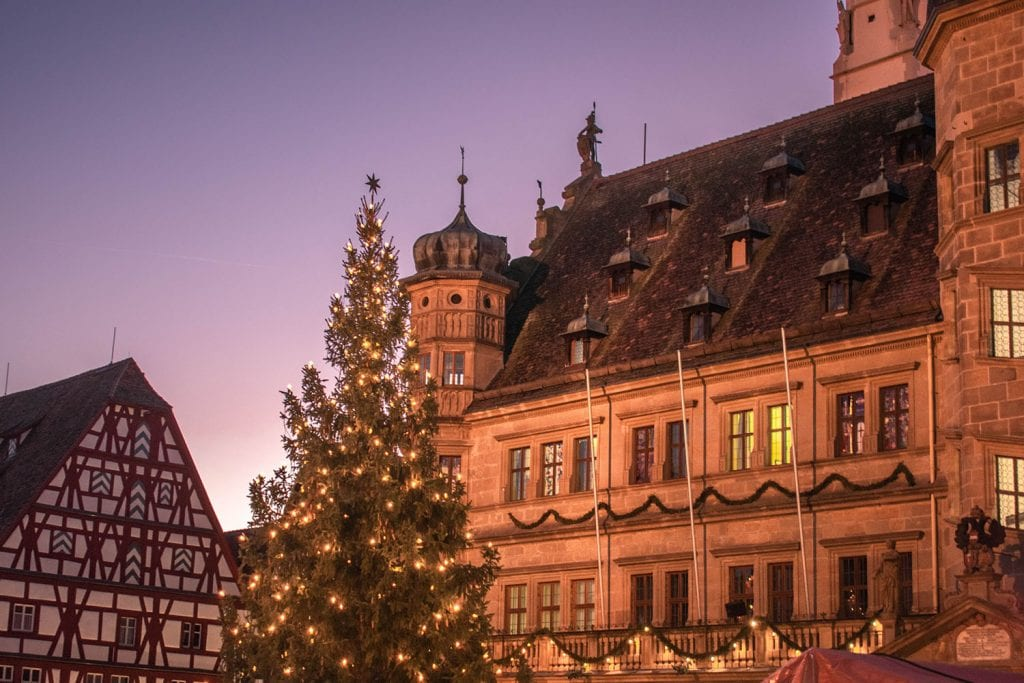 The Rothenburg Christmas markets in Bavaria, Germany