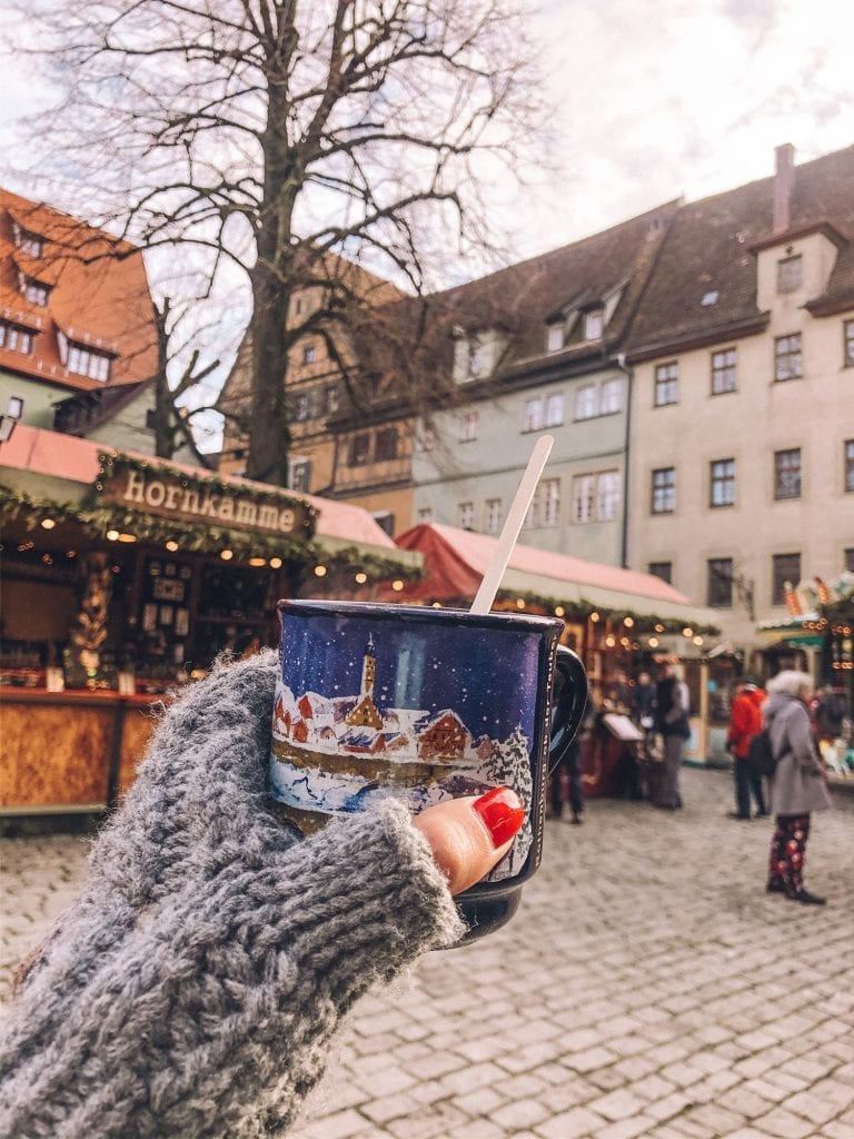 Spiked hot chocolate from the Rothenburg Christmas market