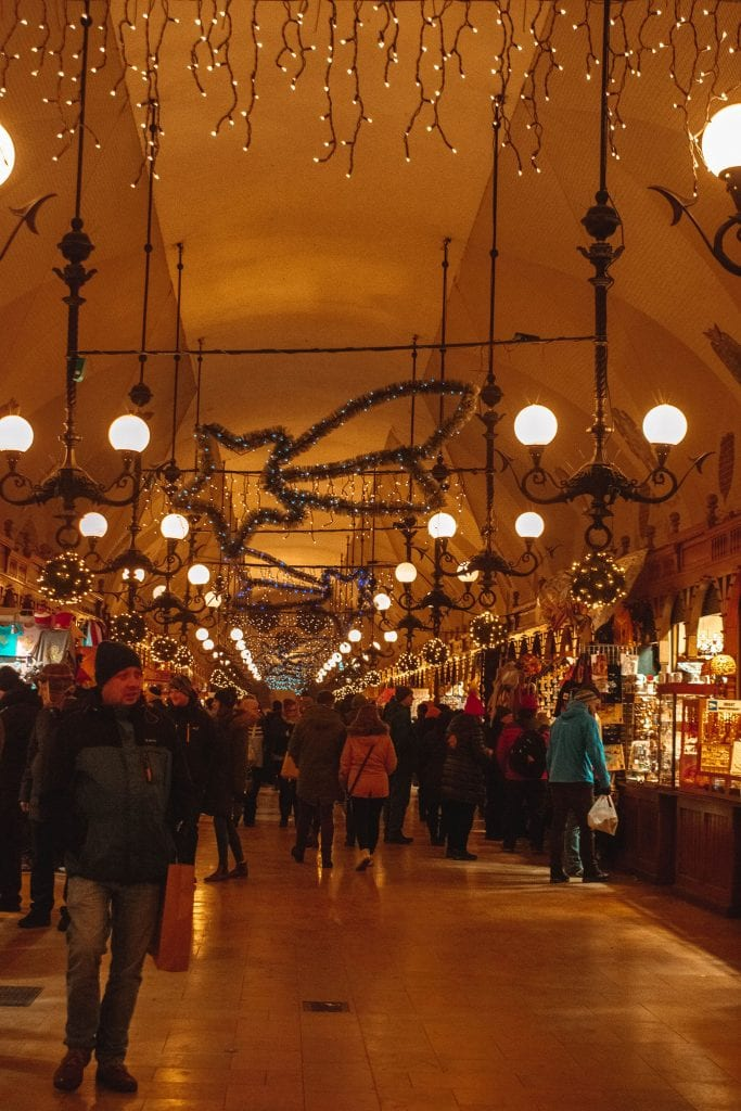 The Krakow Cloth Hall in December