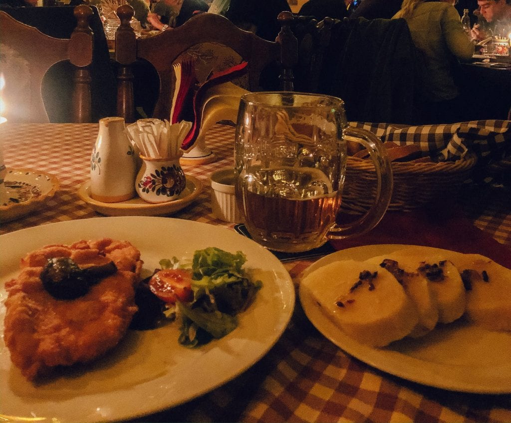 Traditional Czech food from Prague